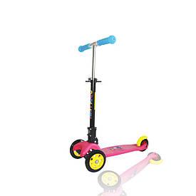 Трехколесный самокат для самых маленьких SWIFT SCOO от ТМ Amigo Sport розовый