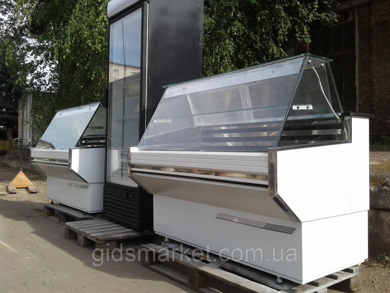 Холодильная витрина Cold 1,41 м. б/у, витрина гастрономическая б у, холодильный прилавок б у