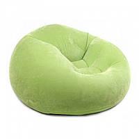 Надувное кресло Intex 68569 Green / кресло велюр TM KRS