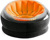 Надувное кресло Intex 68582 Orange / кресло велюр TM KRS