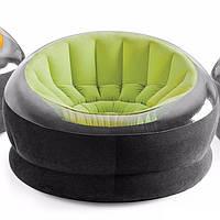Надувное кресло Intex 68582 Green / кресло велюр TM KRS