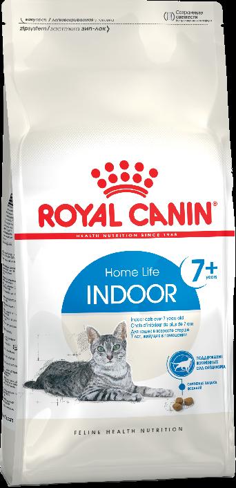 Royal Canin Indoor 7+ 400 г сухой корм для пожилых кошек с 7 до 12 лет живущих в помещении