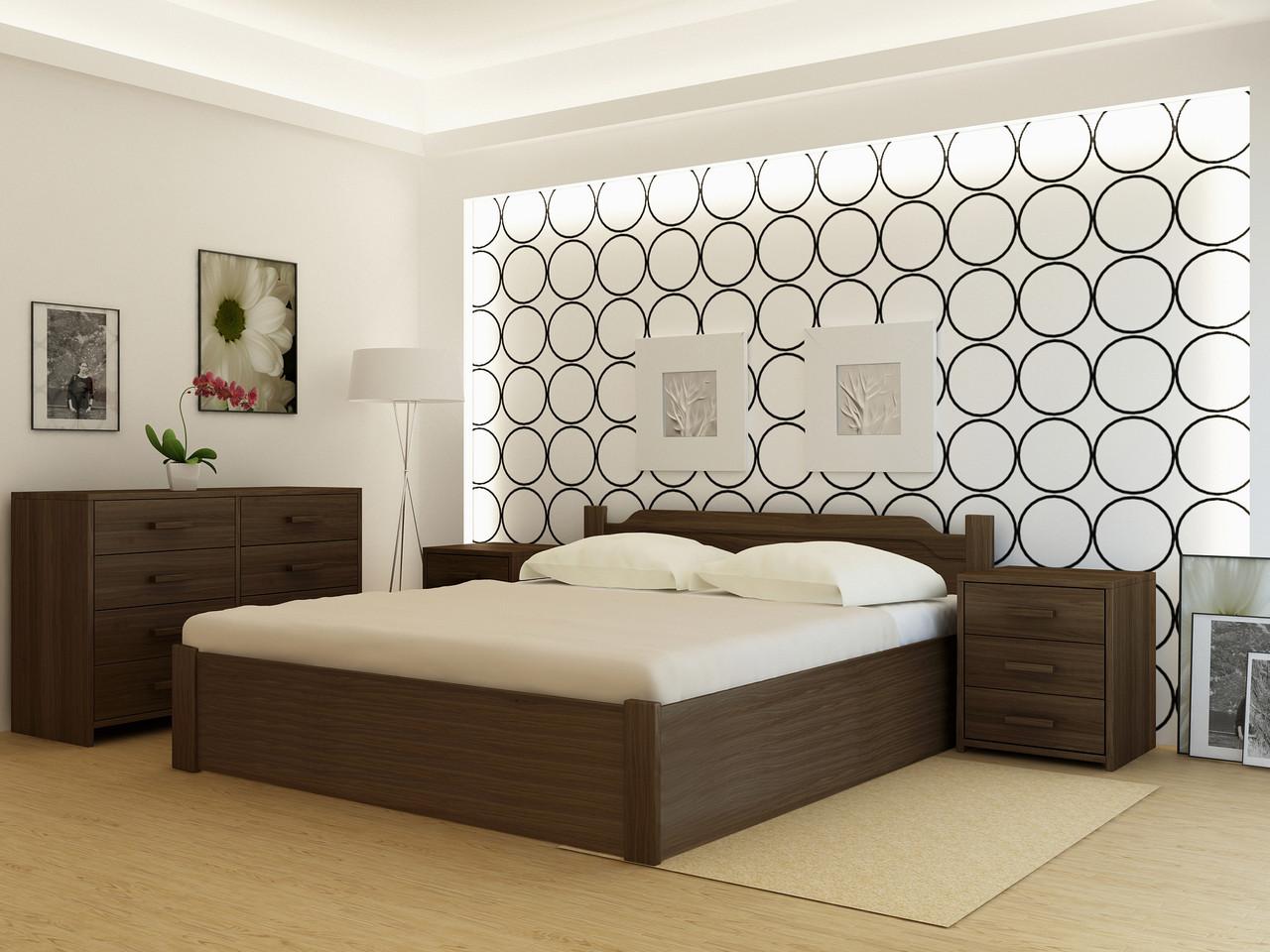 Дерев'яне ліжко Флоренція плюс (з підйомним механізмом)