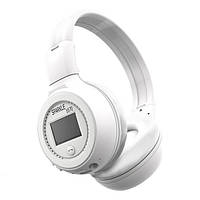 Наушники беспроводные bluetooth microSD FM MP3 Zealot B570 White / блютуз блутуз наушники белые TM KRS