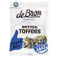 """Ірис з карамеллю deBron без цукру """"Toffee"""""""