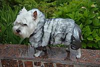 Комбинезон для собак Зайка серый