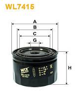 Фильтр маслянный WL7415 / OP615 (пр-во WIX-Filtron UA)
