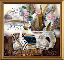 """Схема для вишивки бісером """"Вдохновение. Розовый цвет"""" 27х25см"""