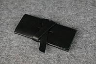 Женский клатч с закруткой |10375| Италия | Черный