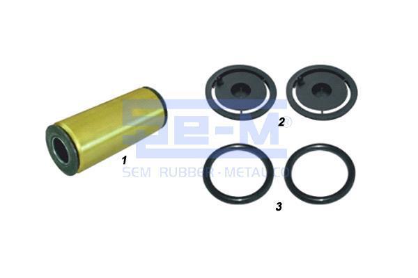 Комплект ремонтный рессоры Renault Kerax, Magnum, Manager, Maxter, Premium одна втулка + 2 кольца + 2 пыльника (5010060127S1   SEM8971-1)