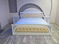 Деревянная кровать Лексус с мягким изголовьем, фото 1
