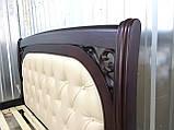 Деревянная кровать Лексус с мягким изголовьем, фото 4