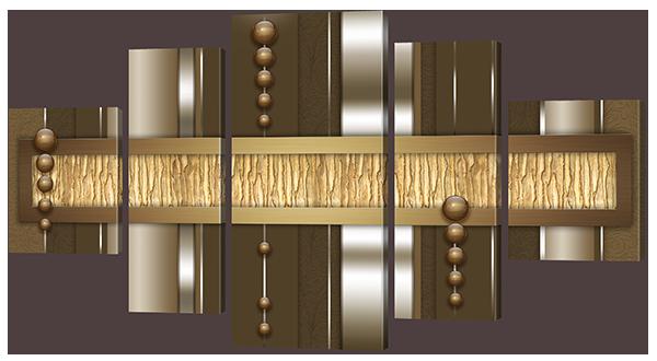 Модульная картина Абстракция на коричневом