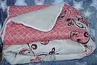 Одеяло зимнее шерсть одна сторона открытая кремовое, фото 1