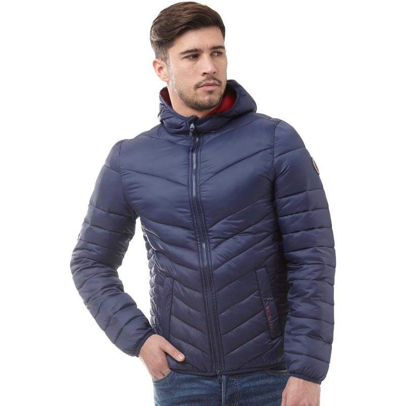 Мужская стеганая куртка Crosshatch Mens Diagon Jacket синяя оригинал