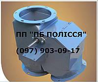 Клапан перекидной односторонний с смотровым окном 450х450 45° и с мотор-редуктором