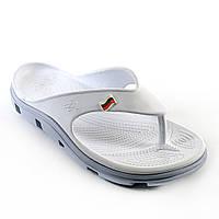 Кроксы, вьетнамки белые / серая подошва. Размеры 41, 43, 44, 45. JoAm 118214.