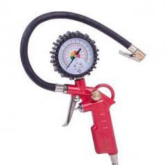 Пистолет Intertool для подкачки колес с манометром 63мм пневматический (блистер) (арт. PT-0503)