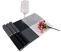 Сервировочные коврики для стола Home Essentials (черно-белый) 4 шт