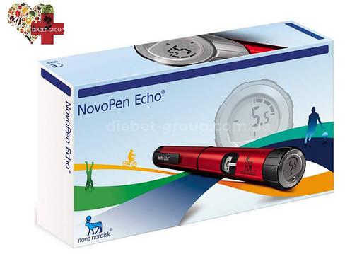 Шприц-ручка НовоПен Эхо (NovoPen Echo) (красная), фото 2