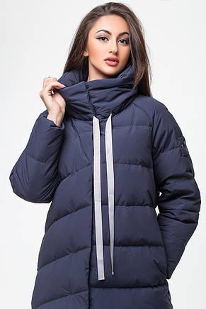 Стильная женская зимняя куртка MSD-P777 (синяя), фото 2