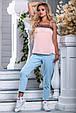 Красивая женская стильная майка 2692 персик, фото 3