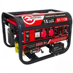 Генератор бензиновый Intertool 3,1 кВт, 4-х тактный, электрический и ручной пуск (арт. DT-1128)
