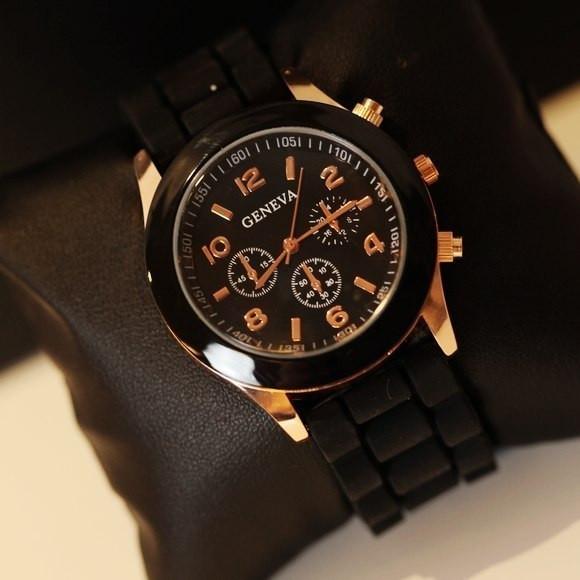 Часы Geneva(Женева): Чёрные