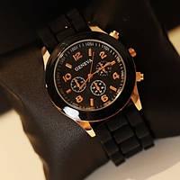 Часы Geneva(Женева): Чёрные , фото 1