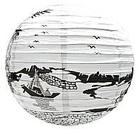 """Фонарь бумажный """"лодка"""" (d-40 см)"""