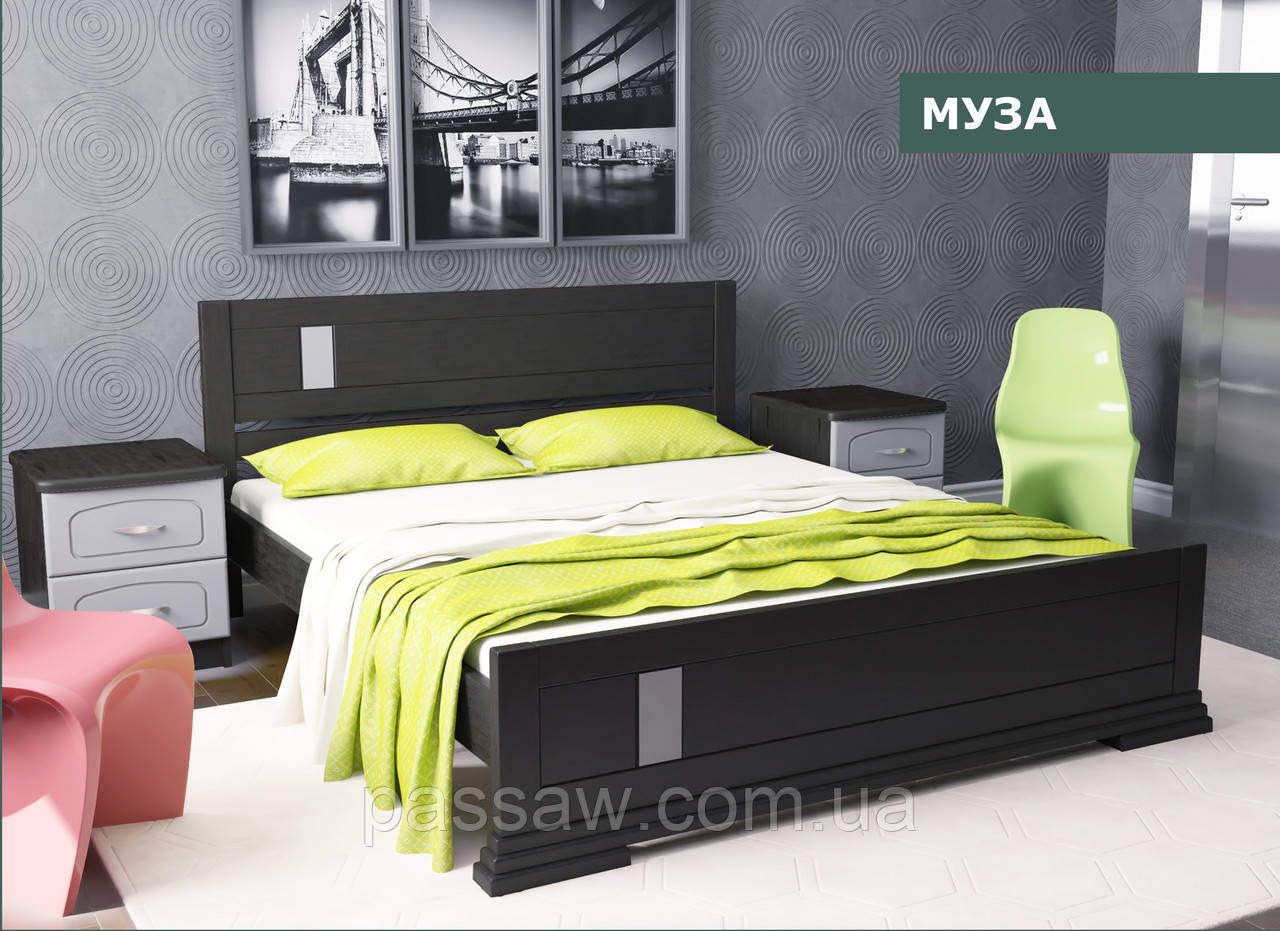 """Кровать деревянная """"Муза"""" 1,4 сосна"""