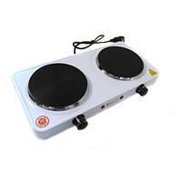 Плита електрична Domotec MS-5822 1000W на 2 конфорки, 1000863, електроплита настільна, електроплитка настільна, плита електрична настільна