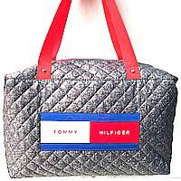 Стеганные сумки Tommy Hilfiger (серый стёганный)28*40