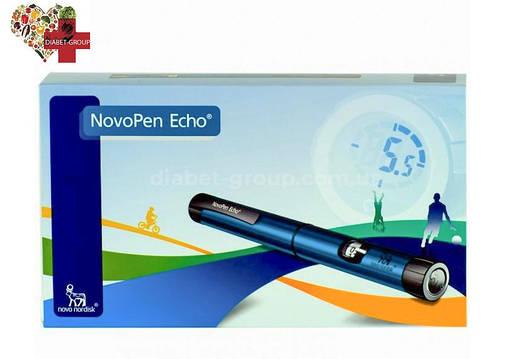 Шприц-ручка НовоПен Эхо (NovoPen Echo) (синяя), фото 2