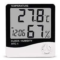 ТОП ПРОДАВЕЦ! Термометр гигрометр цифровой HTC-1 для дома - измерение температуры и влажности, 6001365, термометр гигрометр, гигрометр и термометр