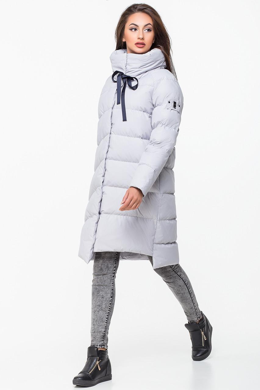 Стильная женская зимняя куртка MSD-P777 (серая) размер М