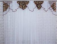 Ламбрекен №100 из плотной ткани на карниз 2,5-3м.  Код:100л073(А), фото 1