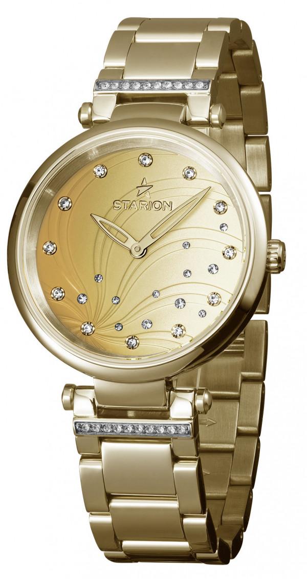 Часы женские STARION J036C.01 G / Champagne Браслет