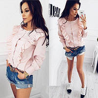 Женская красивая рубашка с длинным рукавом
