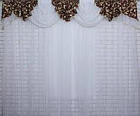 Ламбрекен №099 из плотной ткани на карниз 2,5-3м.  Код:099л073(Б)