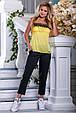 Красивая женская стильная майка 2691 желтый, фото 2