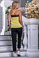Красивая женская стильная майка 2691 желтый, фото 4