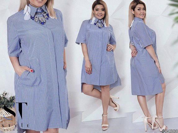 Стильное платье-рубашка с карманами, фото 2