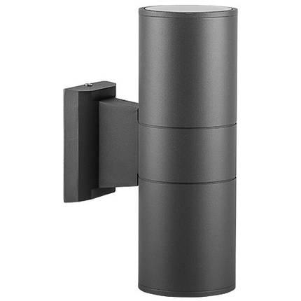 Фасадный уличный светильник DH0702 2хЕ27 серый IP54 Код.59322, фото 2
