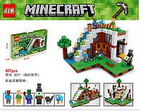 "Конструктор Lepin Minecraft  ""Бaзa нa вoдoпaдe"". 568 дет. - аналог Lego 21134 (18028)"