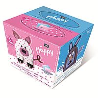 Платочки универсальные двухслойные bella baby Happy, заяц, 40+40 шт.