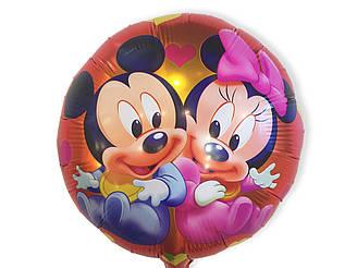 Фольгированный шар Мини и Мики малыши. С гелием