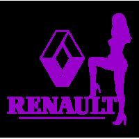 Виниловая наклейка на авто - RENAULT 3
