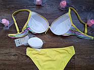 Купальник жіночий із сьемными подушечками / розмір 40 колір ніжно жовтий, фото 5