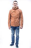 Чоловіча весняні осіння парка куртка подовжена гірчиця